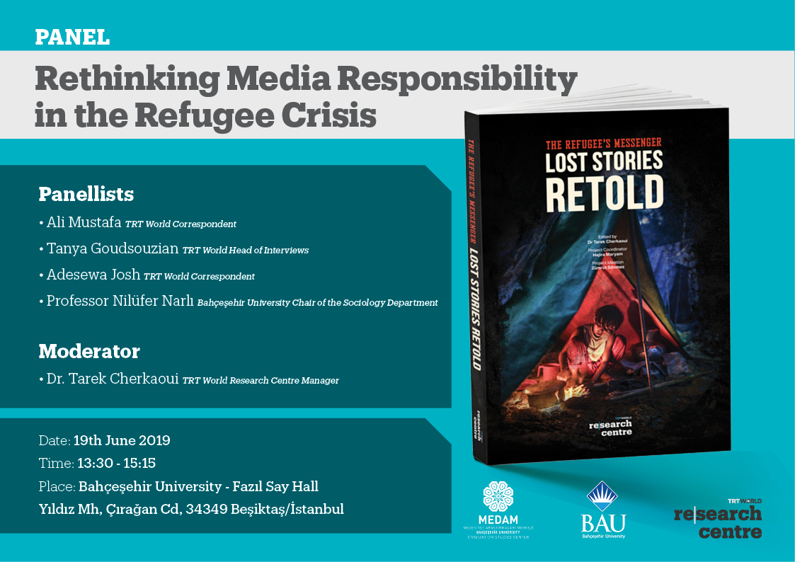 """Rethinking Media Responsibility in the Refugee Crisis"" Panel ve kitap tanıtım programı"